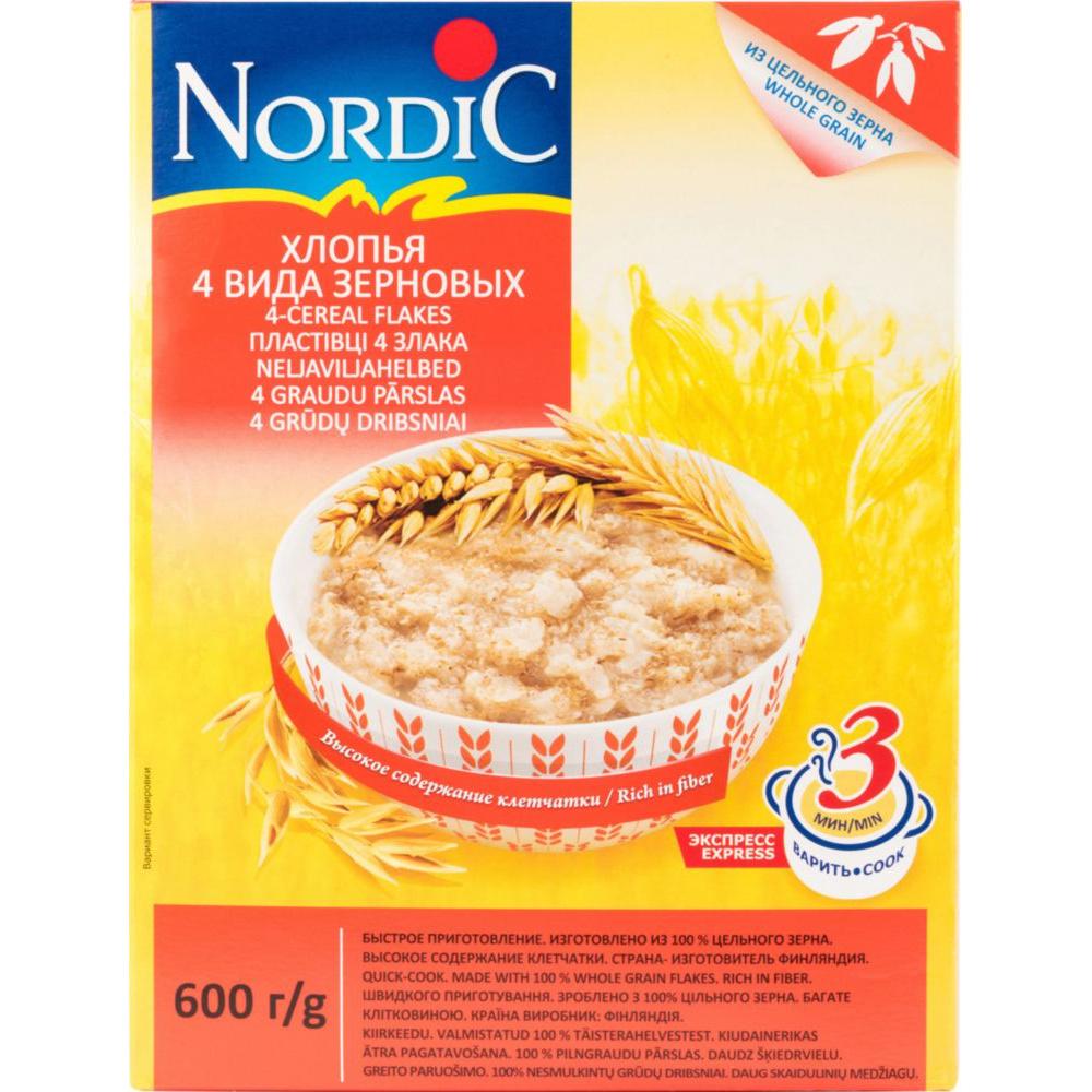 Хлопья 4 злака Nordic  600 г