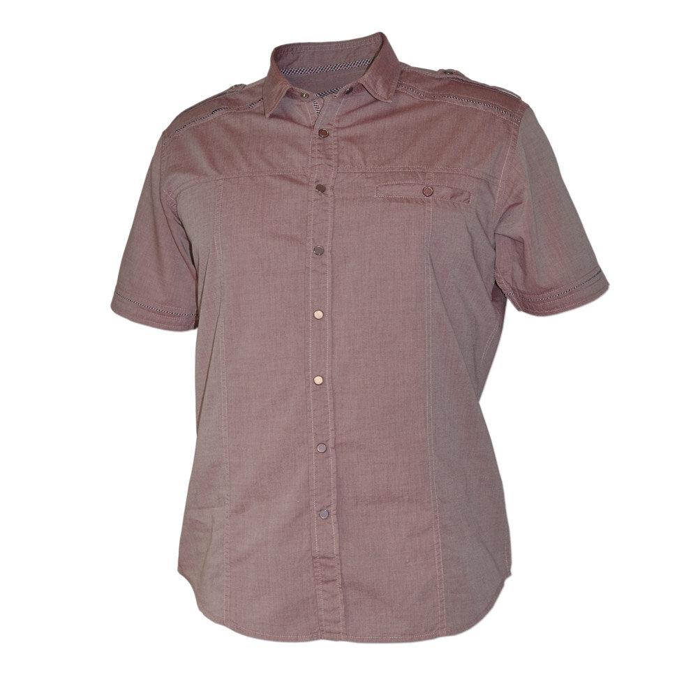 Рубашка мужская Styler 80-046 бордовая M