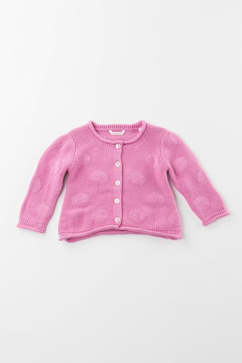 Купить 3.V700.00, Кардиган для девочки Sarabanda, цв.розовый, р-р 74,