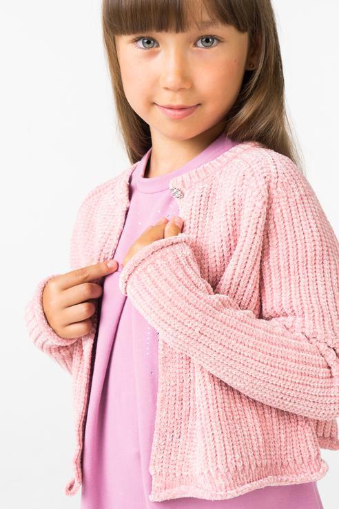 кардиган для девочки iDO, цв.розовый, р
