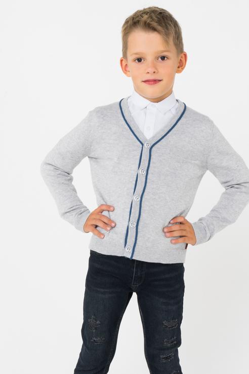 Кардиган для мальчика Boboli, цв.серый, р