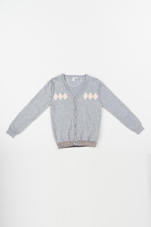 Кардиган для мальчика iDO, цв.серый, р