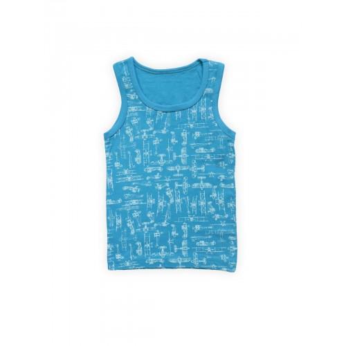 Купить 1573-01, Майка бельевая детская Luxxa, цв. синий р.146,