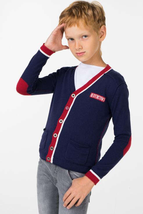 Купить D.V100.00, Кардиган для мальчика Sarabanda, цв.синий, р-р 98, Кардиганы для мальчиков