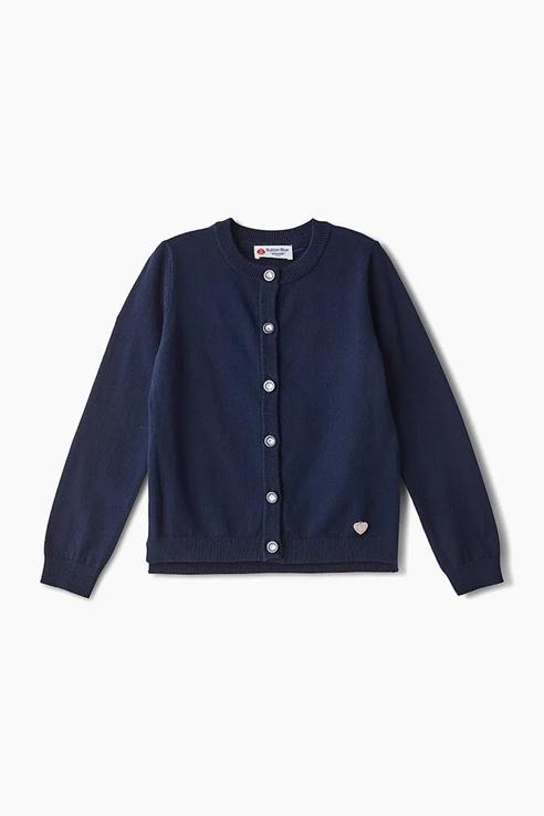 Купить 219BBGS35011000, Кардиган для девочки Button Blue, цв.синий, р-р 152, Кардиганы для девочек