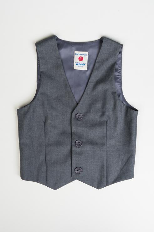 Жилет для мальчиков Button Blue, цв. серый, р.170
