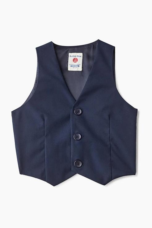 Жилет для мальчика Button Blue, цв.синий, р-р 128