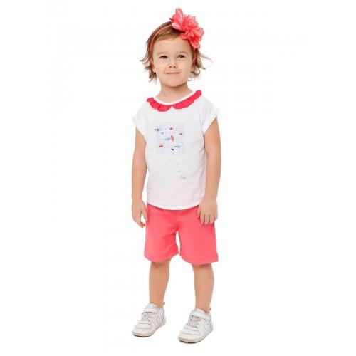 Купить 1479-01, Комплект для девочек (шорты текстильные) KIDAXI BABY, цв. розовый, р-р 68, Комплекты для новорожденных