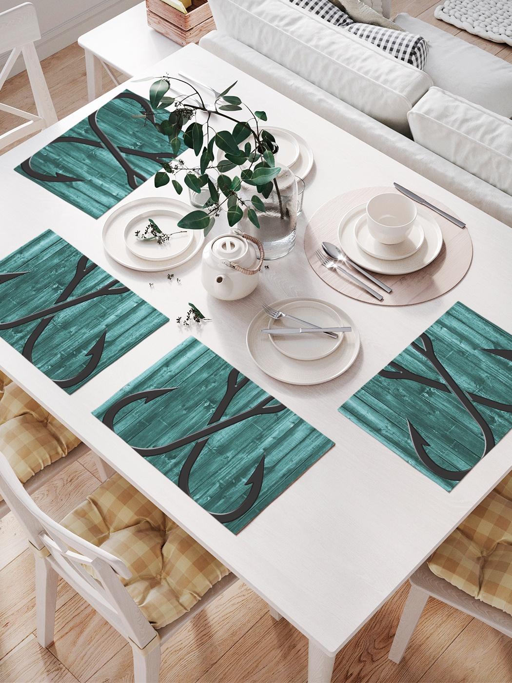 Комплект салфеток для сервировки стола «Крючковый крест» (32х46 см, 4 шт.)