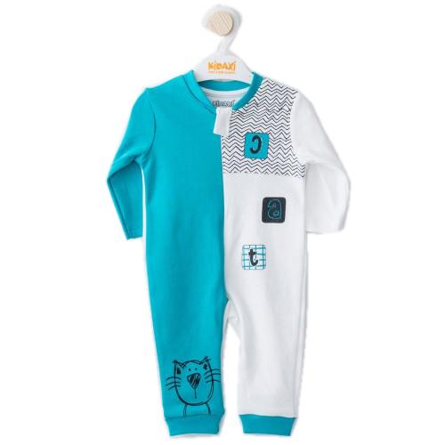 Купить 1464-01, Комбинезон для мальчиков KIDAXI BABY, цв. зеленый, р-р 68, Трикотажные комбинезоны для новорожденных