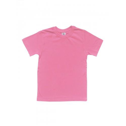 Футболка детская однотонная LELO, цв. розовый, р-р 128