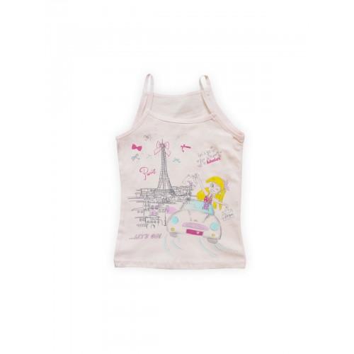 Купить 1603-01, Майка для девочек Luxxa, цв. бежевый; оранжевый, р-р 122, Майки для девочек