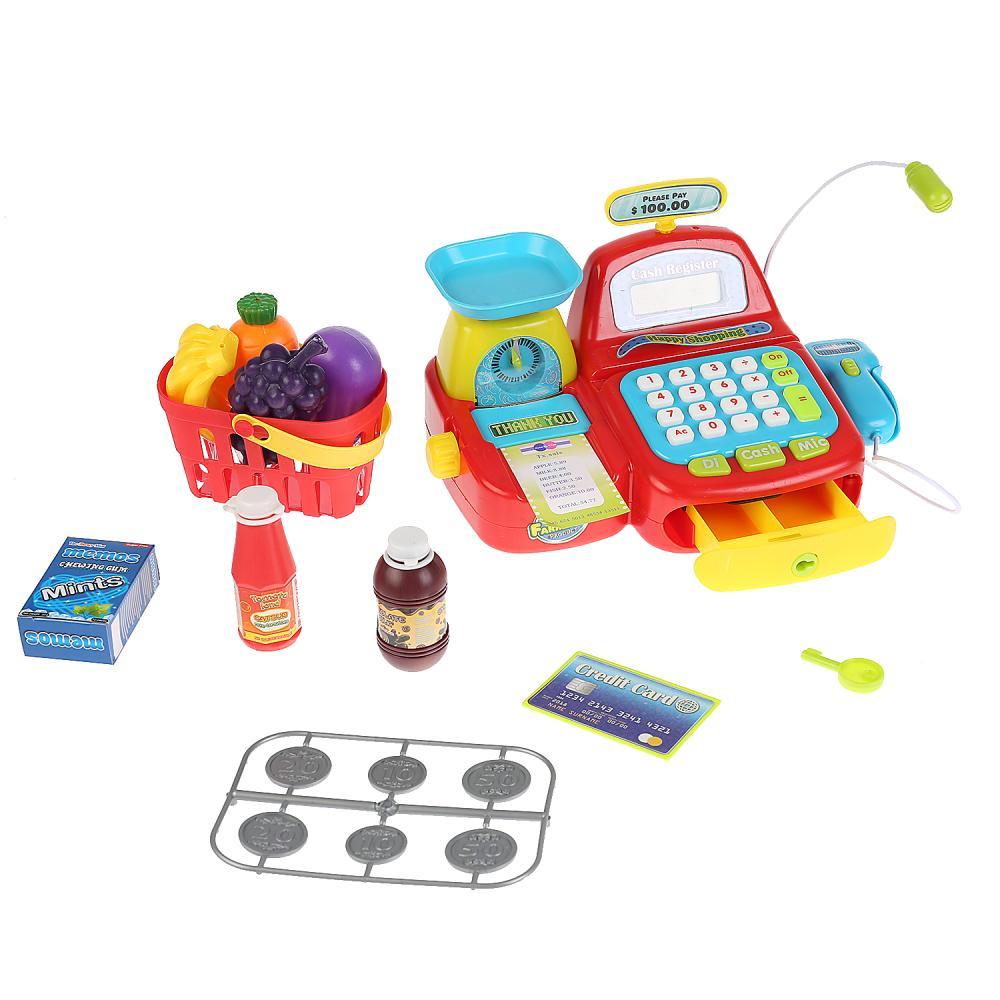 Купить Кассовый аппарат Shantou Gepai B1818831 с аксессуарами, со световыми и звуковыми эффектами, Игрушечные кассы