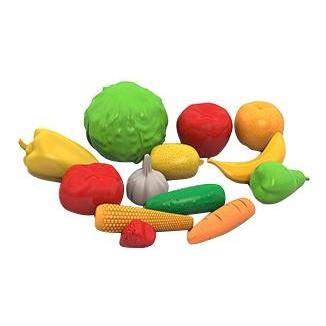 Купить Фрукты, овощи, Набор НОРДПЛАСТ фрукты, овощи 13 предметов в сетке,