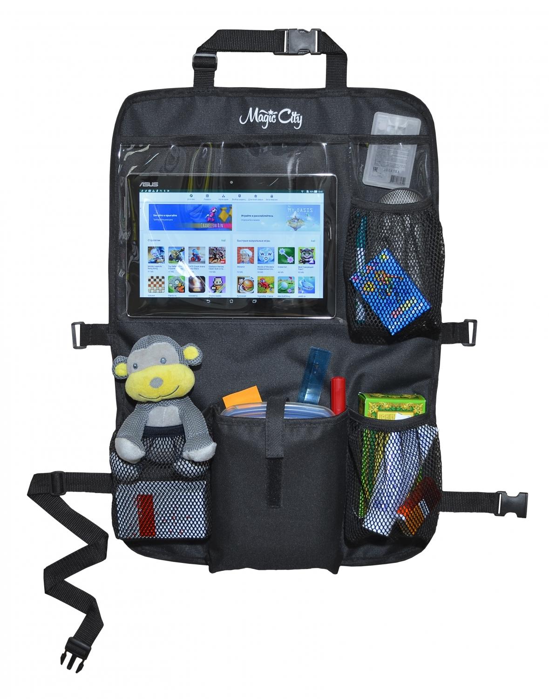 Органайзер на спинку сиденья с карманом для планшета Magic City OR-MOB_черный