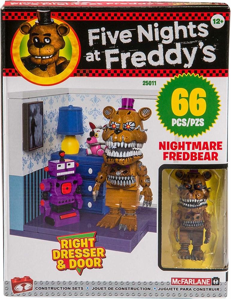 Купить Конструктор Фнаф Фредди с Комодом (Five Nights at Freddy's Right Dresser & Door Small Set) 66 деталей, Конструктор McFarlane Toys FNaF Right Dresser & Door Small Set, 66 деталей, Конструкторы пластмассовые