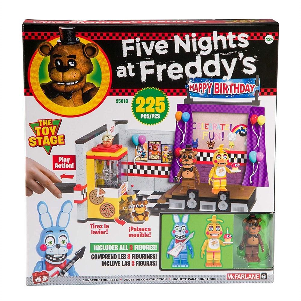 Купить Конструктор ФНАФ Большой набор (FNAF The Toy Stage Large Set) на 225 детали, Конструктор McFarlane Toys Five Nights at Freddy's The Toy Stage Large Set, 225 детали, Конструкторы пластмассовые