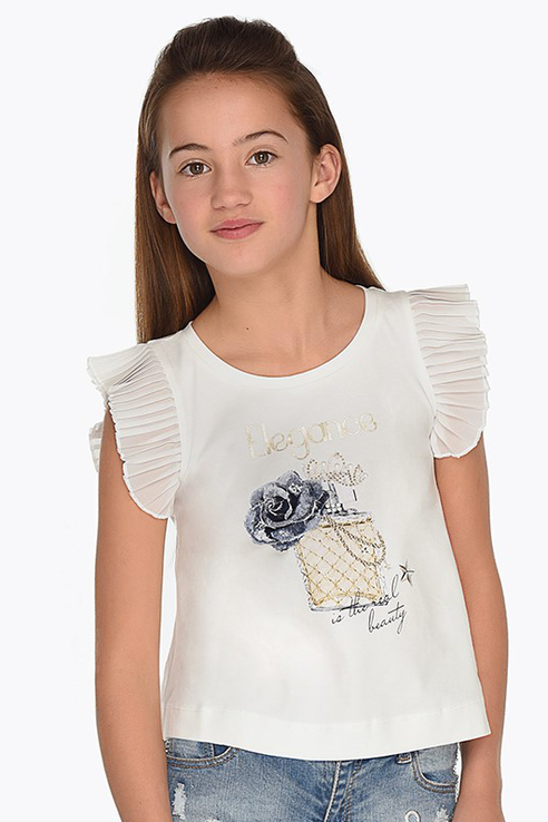 Купить 6028_бежевый, Майка Mayoral 6028 цв.бежевый р.128, Детские футболки