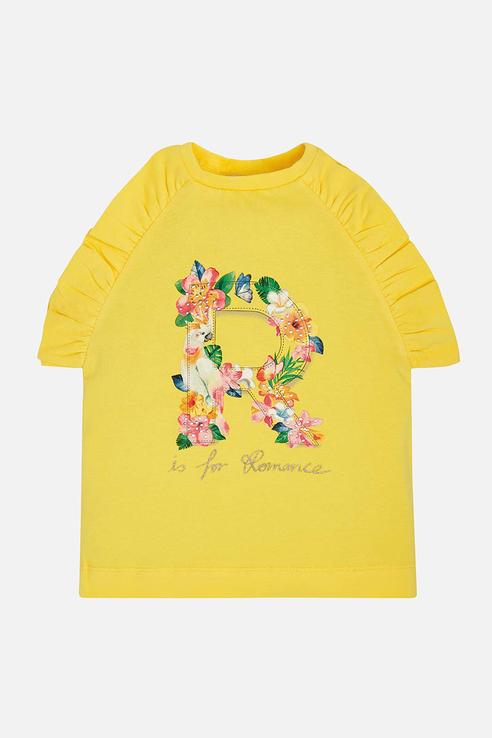 Купить 3020_желтый, Майка Mayoral 3020 цв.желтый р.104, Детские футболки