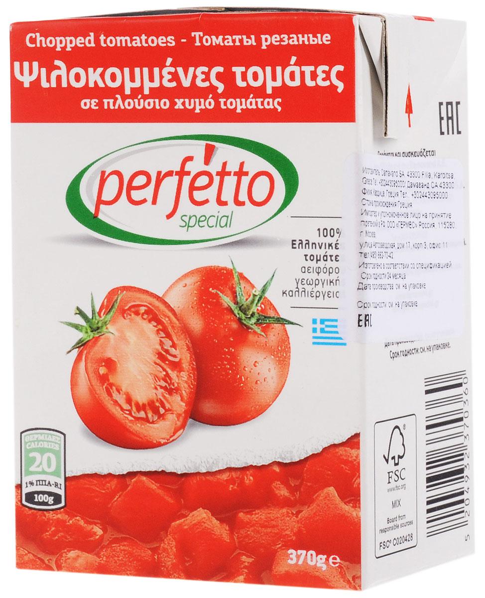 Томаты перфетто резанные в собственном соку 370 г т/п дамаванд са греция