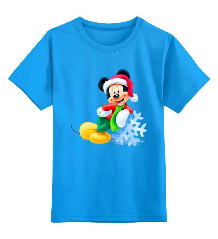Купить 0000003062603, Детская футболка Printio Мышонок цв.голубой р.104,