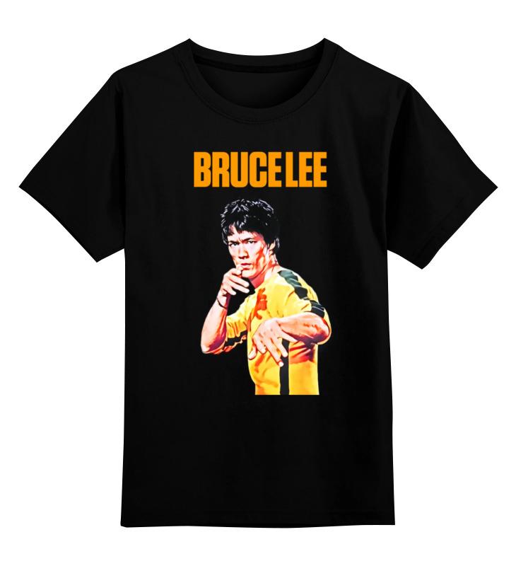 Купить 0000000651013, Детская футболка классическая Printio Bruce lee, р. 128,