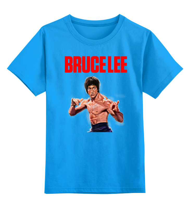 Купить 0000000651024, Детская футболка классическая Printio Bruce lee, р. 128,