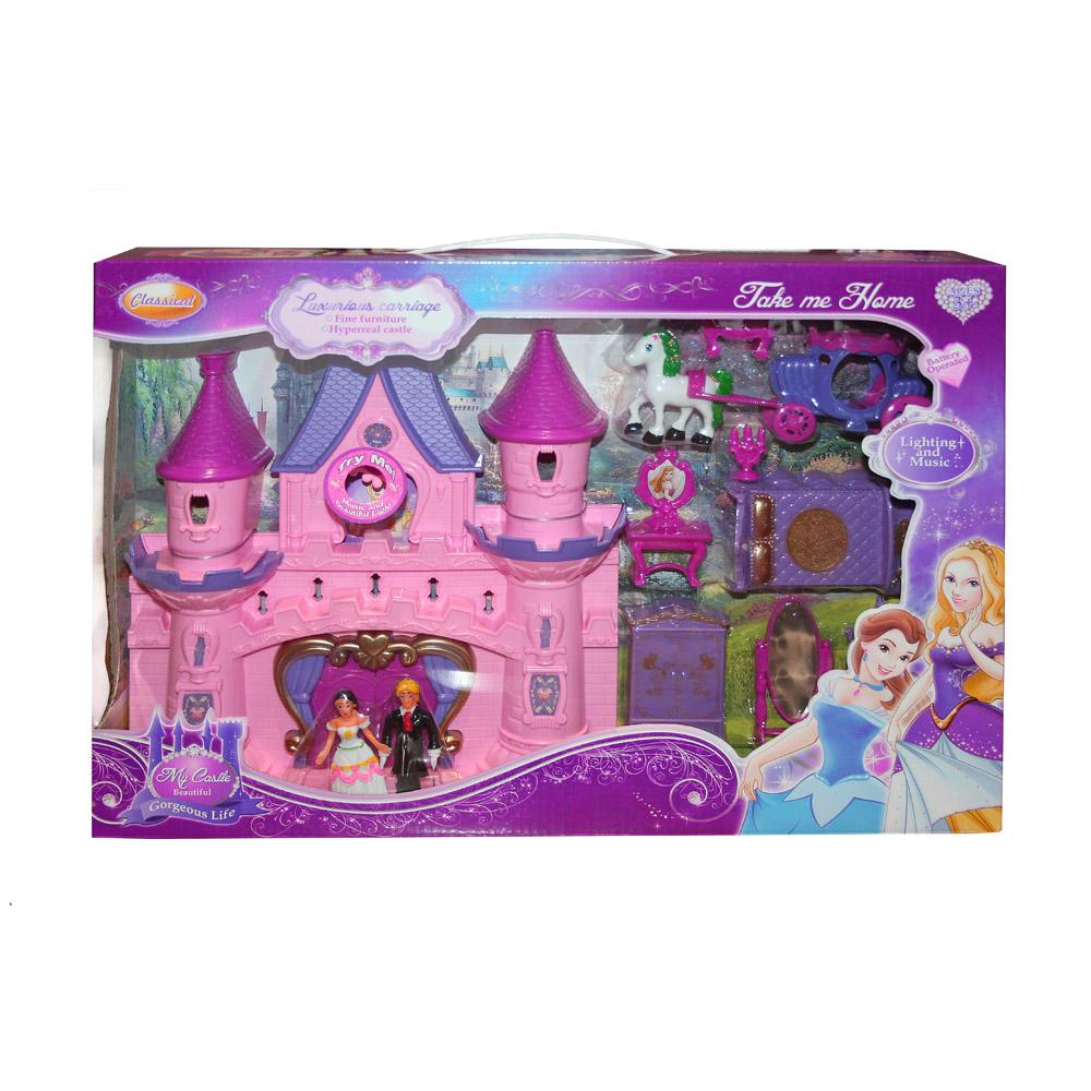 Замок для кукол Джамбо Тойз световые