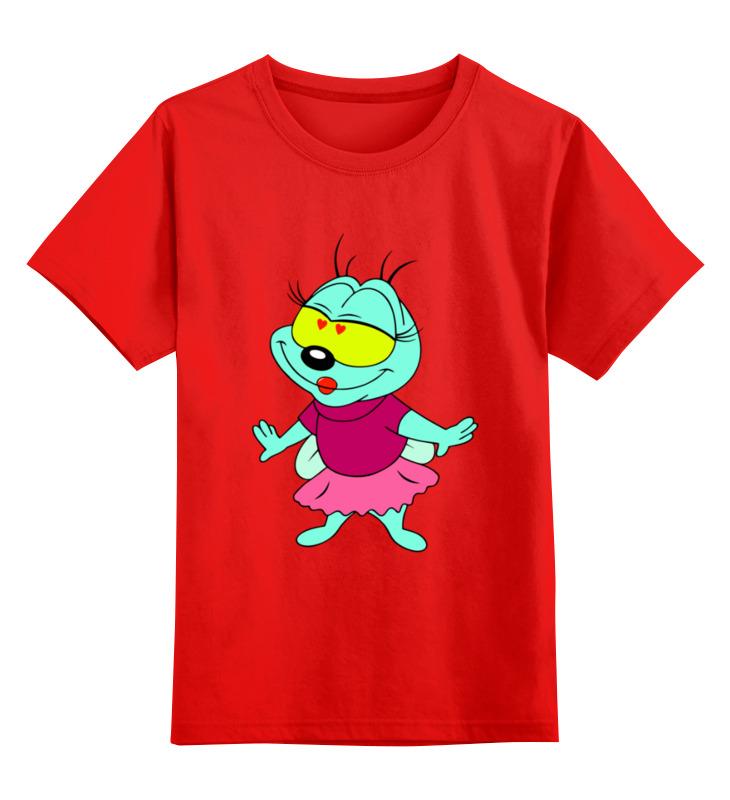 Купить 0000003314907, Детская футболка Printio Пчелка цв.красный р.104,