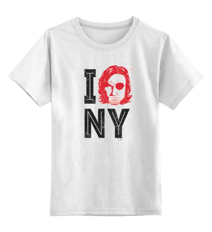 Купить 0000000649765, Детская футболка классическая Printio Escape from new york, р. 164,
