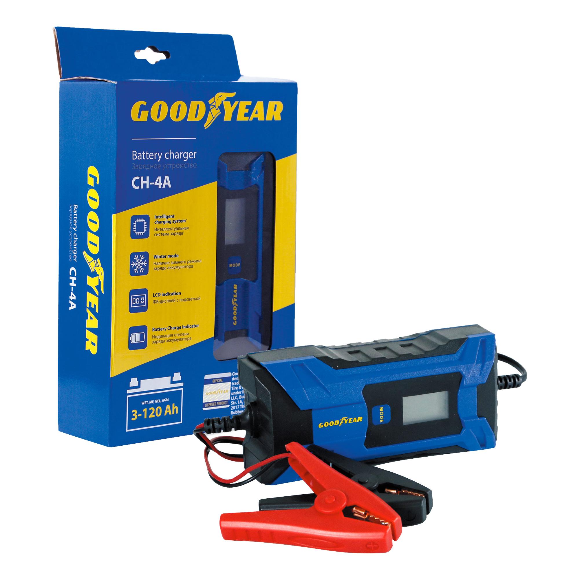 Зарядное устройство для АКБ GOODYEAR 12-6B 120Ач GY003001 зарядное устройство для АКБ CH-4A GY003001