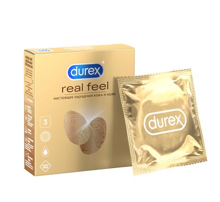 Купить Презервативы Durex Real Feel 3 шт.