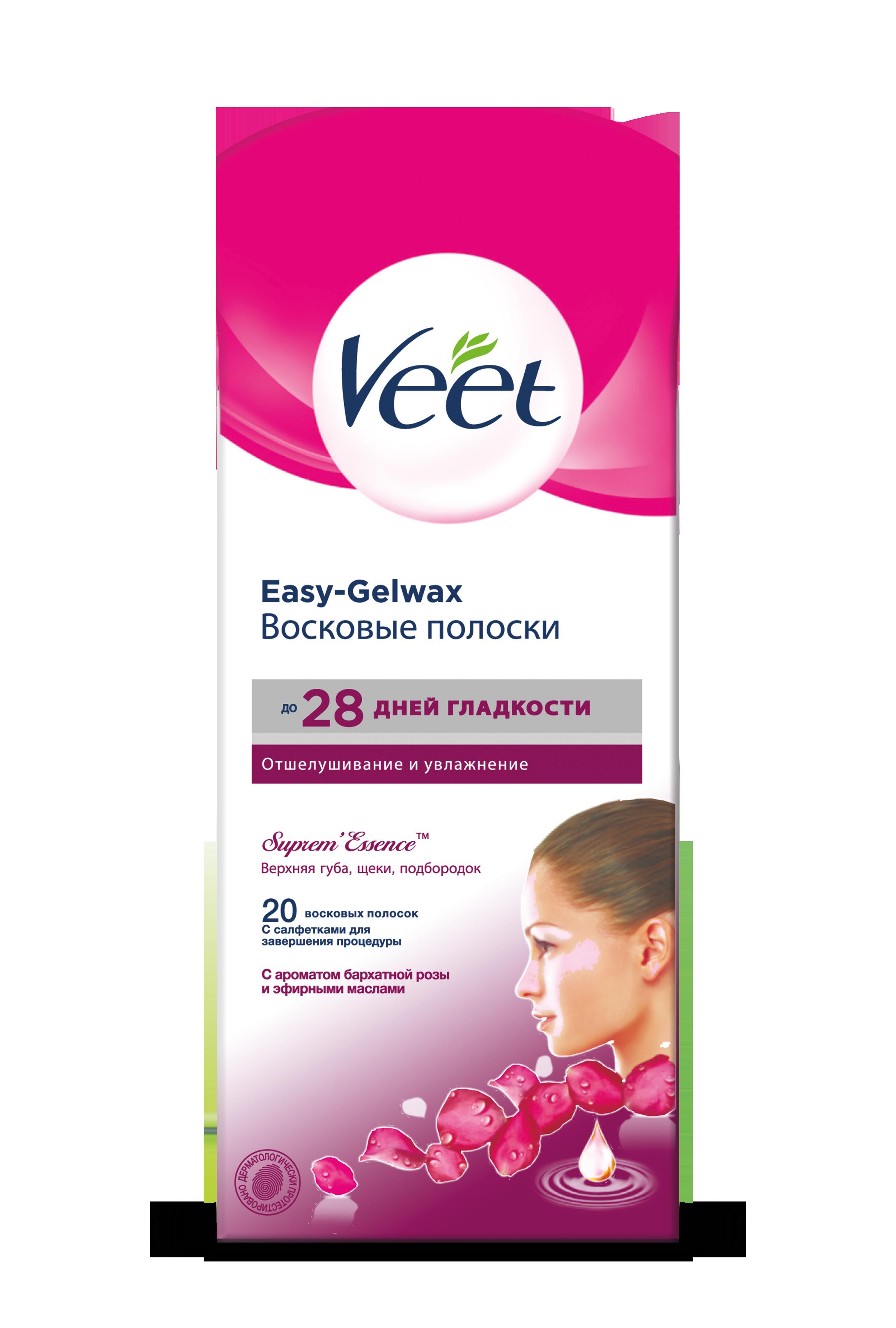 Восковые полоски для лица Veet Suprem Essence 18 шт