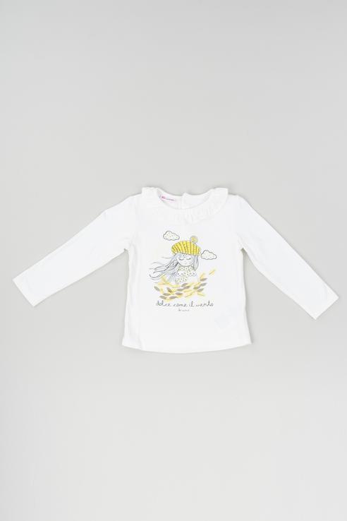 Купить 183BEFL001, Джемпер детский Brums, цв.белый, р-р 86, Кофточки, футболки для новорожденных