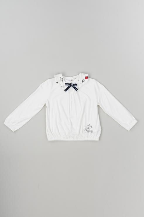 Купить 183BEFL008, Джемпер для девочки Brums, цв.белый, р-р 86, Кофточки, футболки для новорожденных
