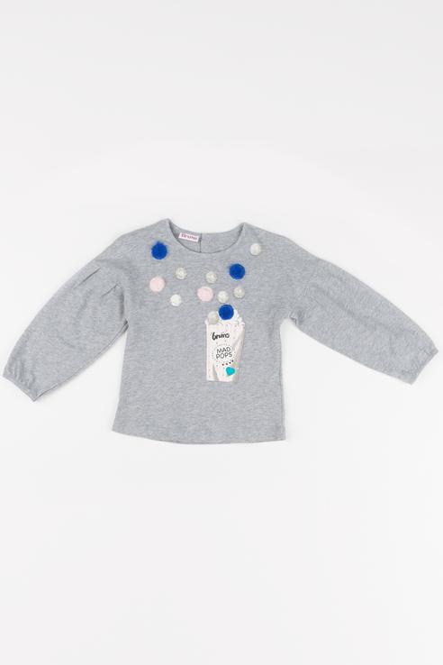 Купить 183BEFL004, Джемпер детский Brums, цв.серый, р-р 74, Кофточки, футболки для новорожденных