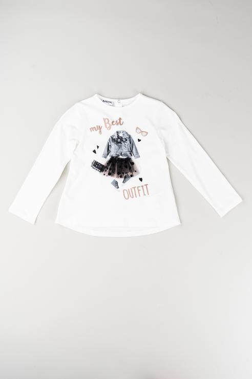 Купить 183MEFL002, Джемпер для девочки MEK, цв.белый, р-р 74, Кофточки, футболки для новорожденных