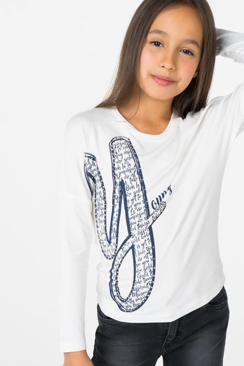 Купить 183MIFL007, Джемпер для девочки MEK, цв.белый, р-р 110, Джемперы для девочек