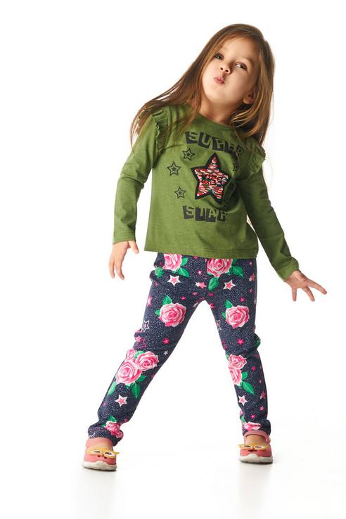 Джемпер для девочки Mirdada, цв.зеленый, р-р 128 ДСД-070