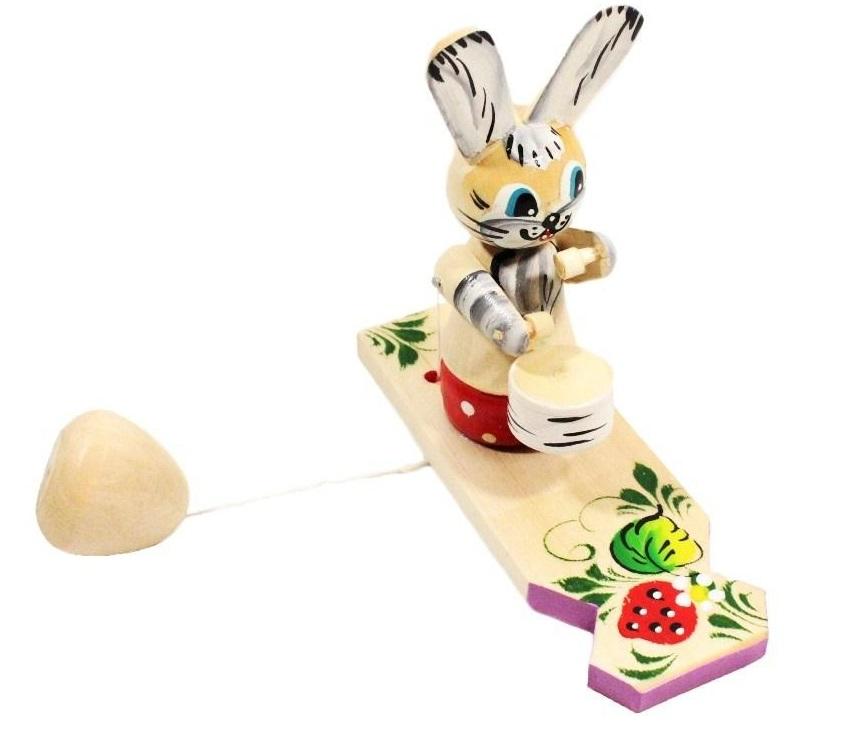 Купить Богородская игрушка Заяц барабанщик, Русские народные игрушки,