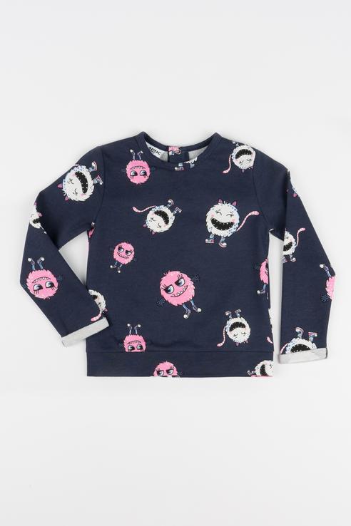 Купить 183MEFC003, Джемпер для девочки MEK, цв.синий, р-р 74, Кофточки, футболки для новорожденных