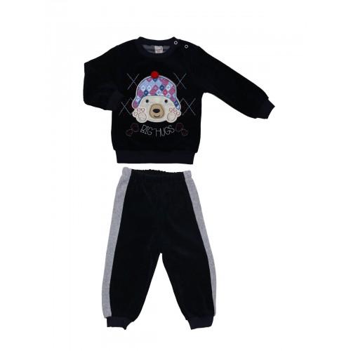 Купить 1005-01, Комплект велюровый для мальчиков BIDIRIK, цв. синий, р-р 80, Детские костюмы