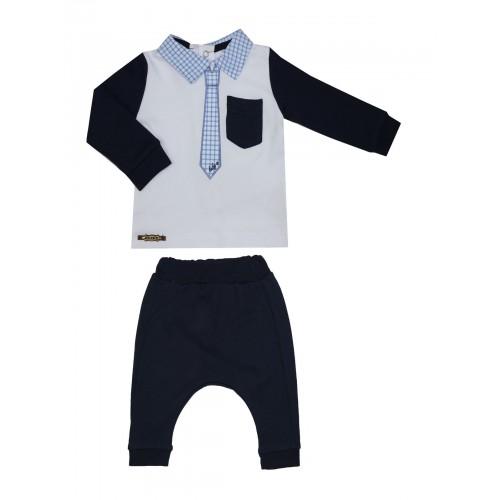 Купить 1141-01, Комплект для мальчиков BABYZ, цв. синий, р-р 80, Детские костюмы