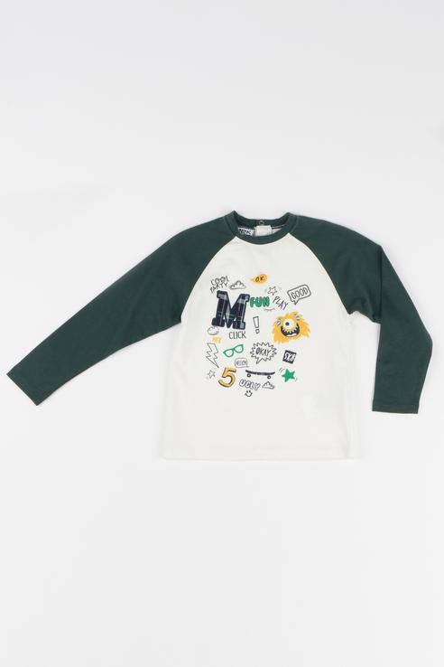 Купить 183MDFL005, Джемпер для мальчика MEK, цв.белый, р-р 74, Кофточки, футболки для новорожденных