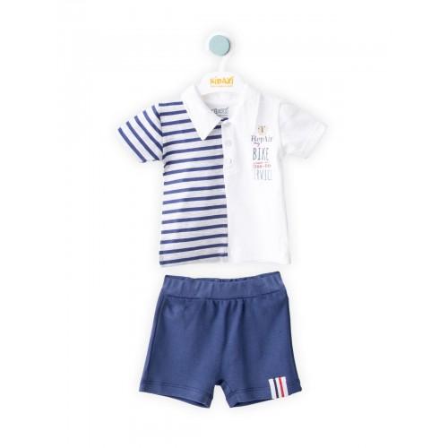 Купить 1477-01, Комплект для мальчиков KIDAXI BABY, цв. синий, р-р 80, Детские костюмы