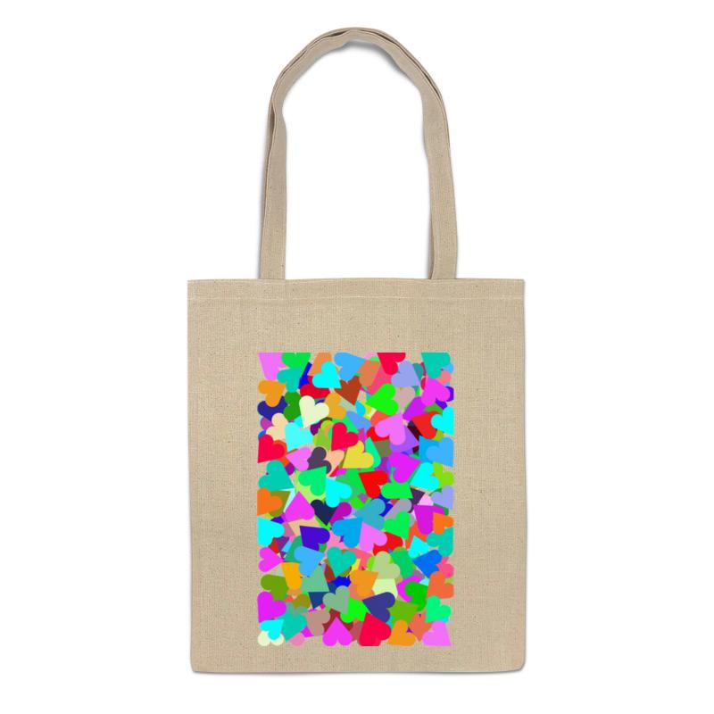 Сумка-шоппер Printio Яркий орнамент с сердечками