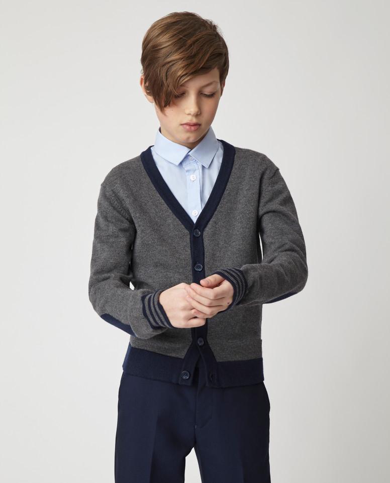 Серый тонкий кардиган для мальчиков Gulliver, модель