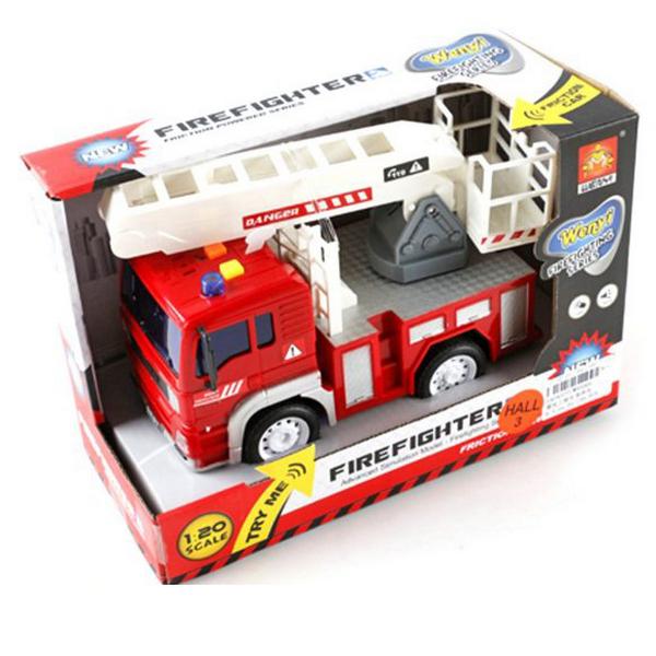 Инерционная машинка WenYi Пожарная 1:20 со световыми и звуковыми эффектами