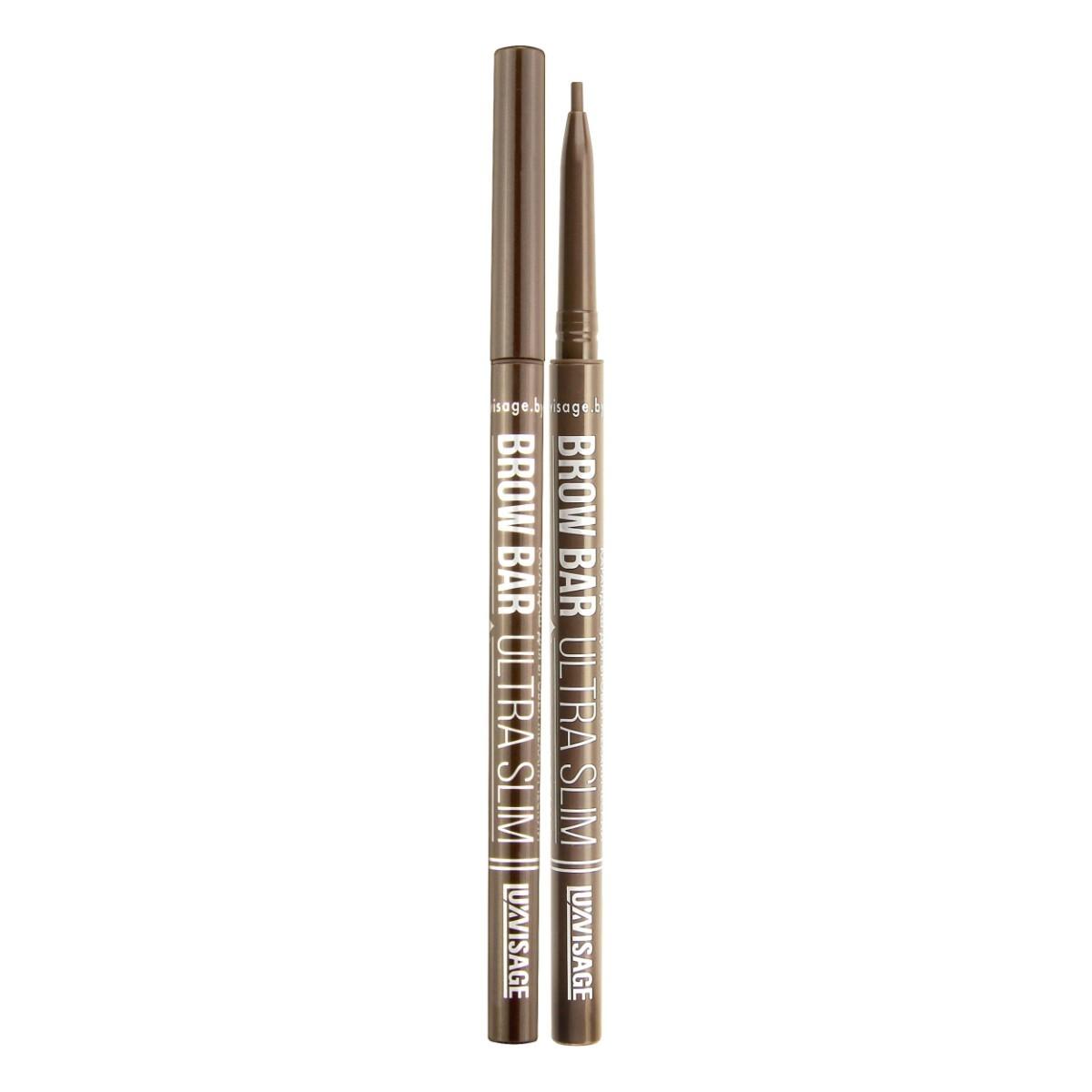 Ультратонкий механический карандаш для бровей luxvisage brow