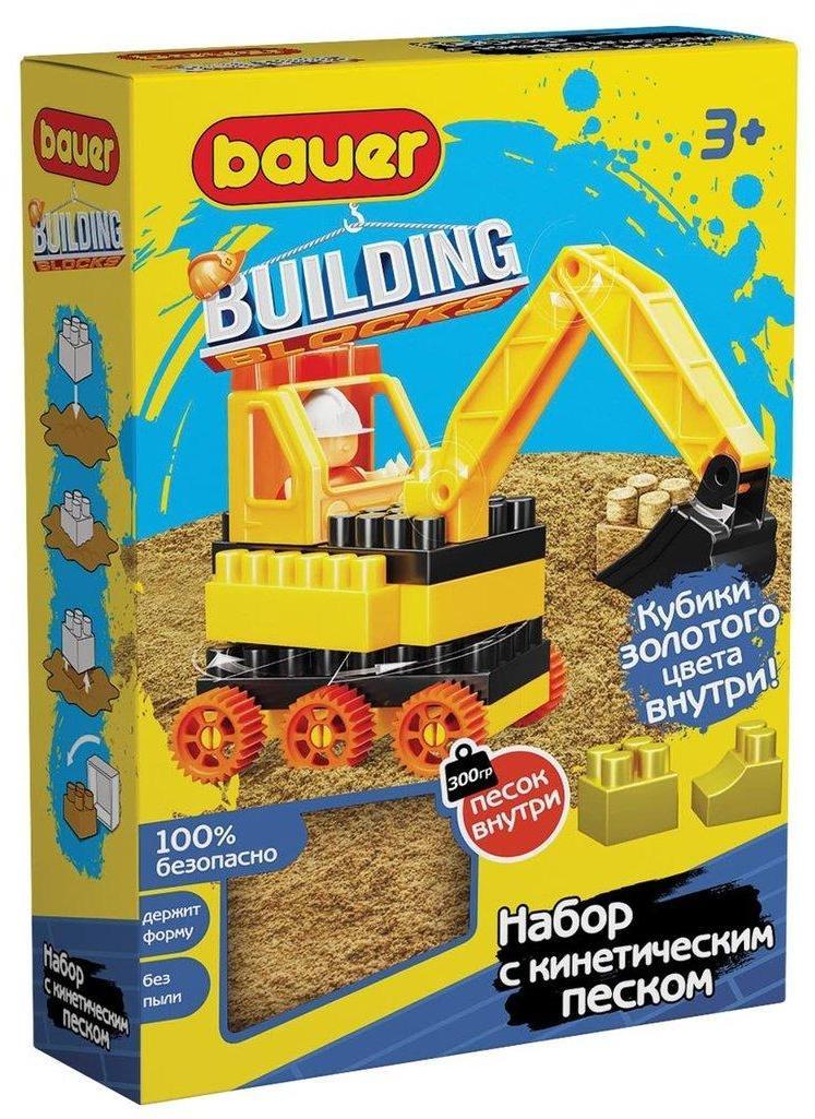 Конструктор Bauer Building Kinetic Стройка с кинетическим песком, с бульдозером